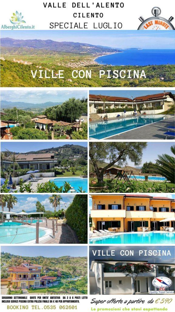 In Paese Valle d'Alento -Cilento ville con piscina jpg
